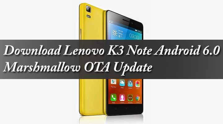 Lenevo K3 Note