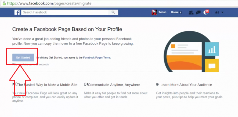 Fb profile to fb page-1