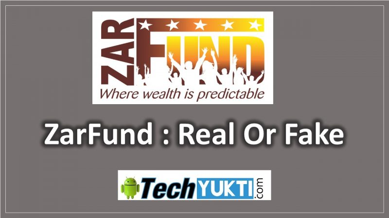 Zarfund Is Real or Fake | Online Fraud
