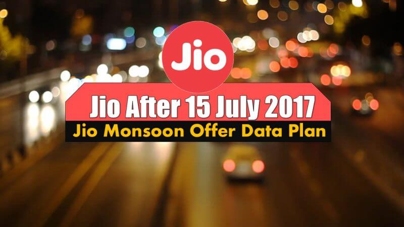 Jio After 15 July 2017