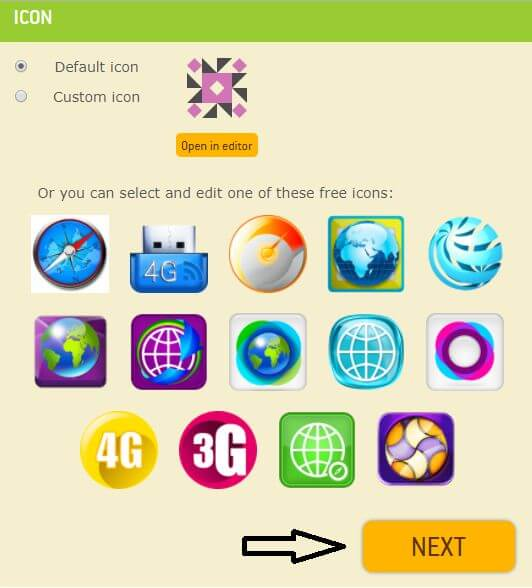 add browser logo icon