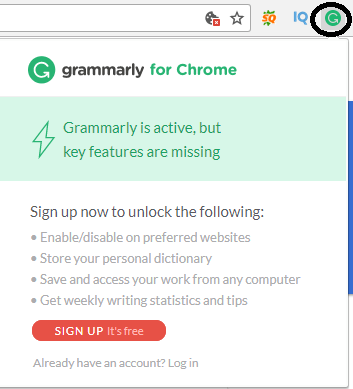 enable chrome extension