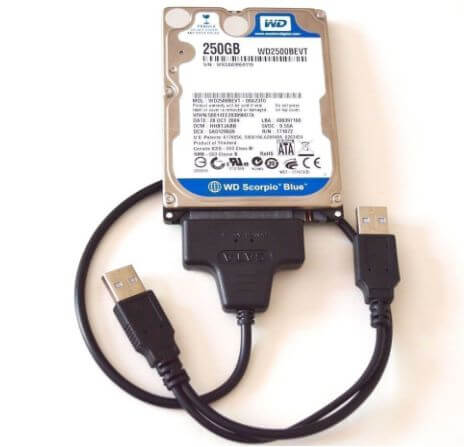 internal hard drive to external hard drive