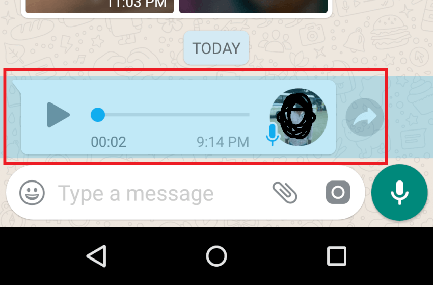 select Audio Message