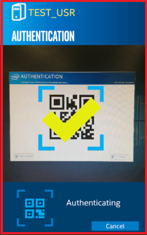 scan qr code from intel host