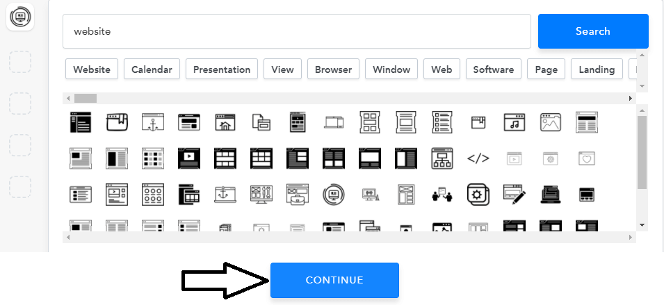 search icon for logo