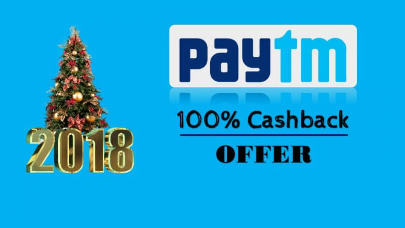 Paytm Christmas And New Year Offer