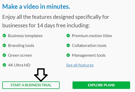 start trial video editing