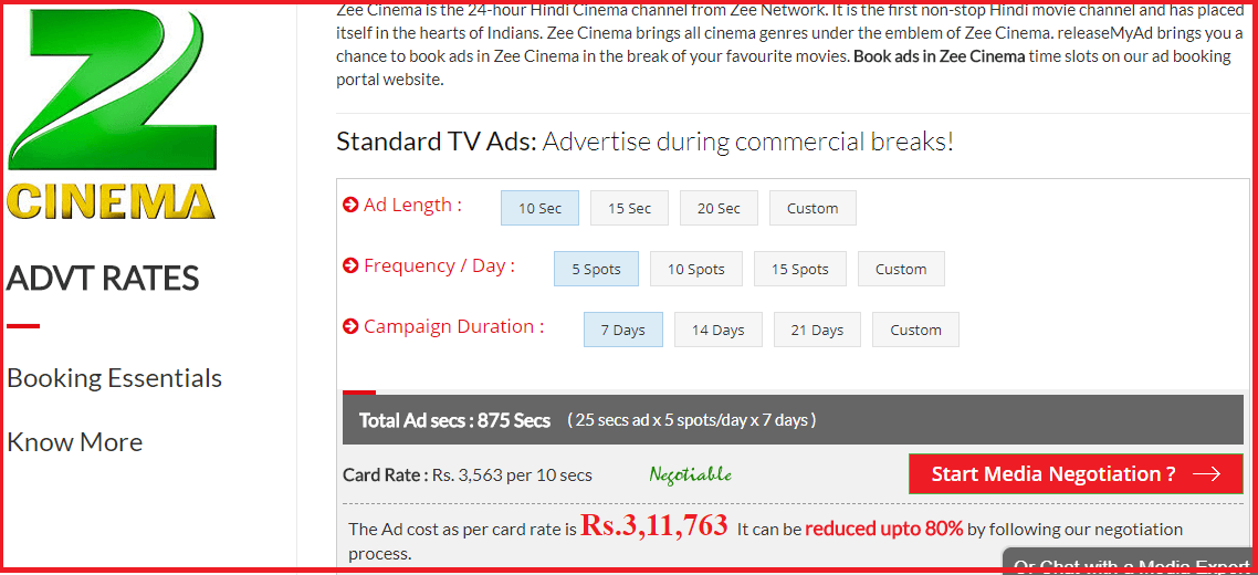 Zee Tv Advertiser