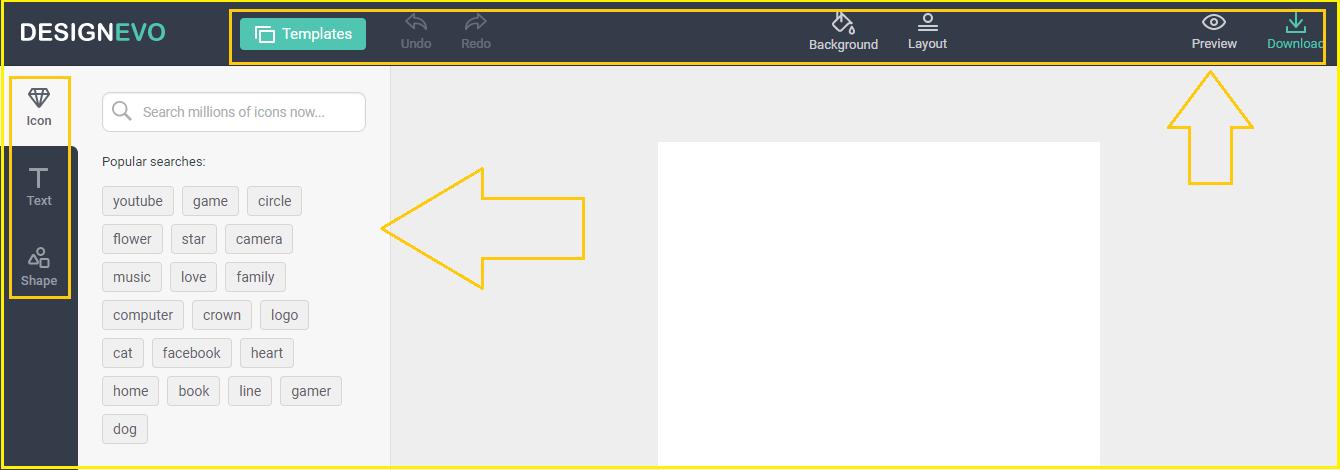 designevo Main dashboard