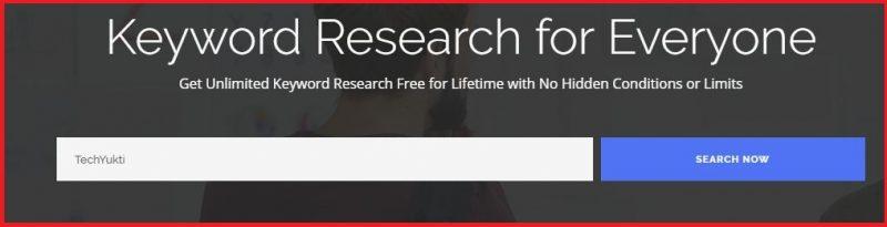 Blogbing keyword search tool