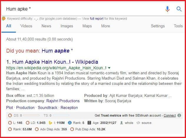 Asterisk search