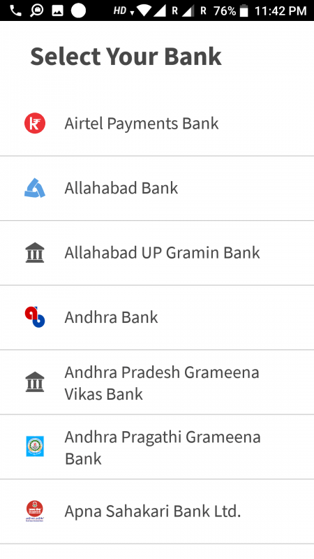add your bank