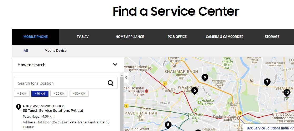 Samsung Service center