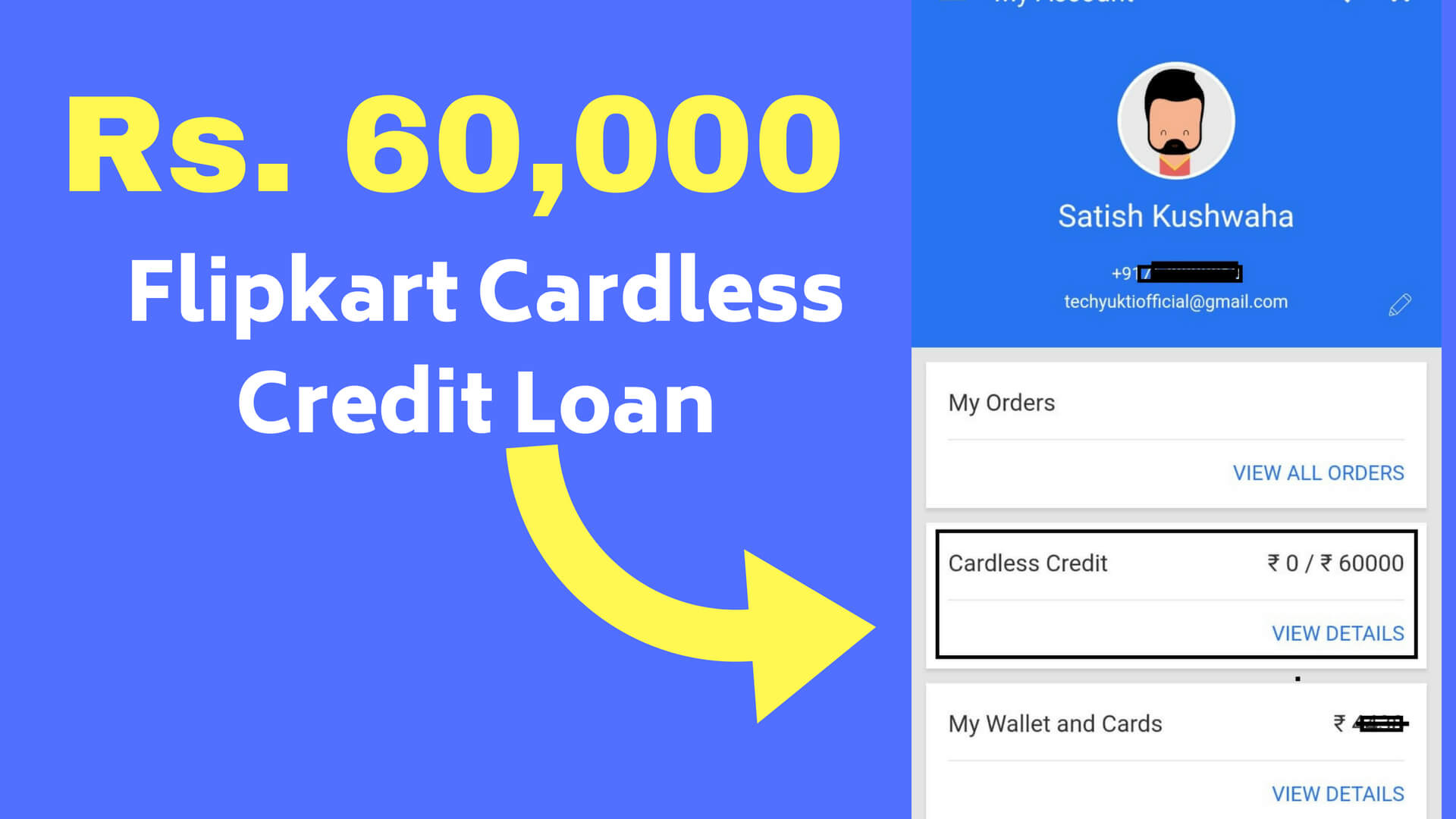 Flipkart Cardless Credit Loan