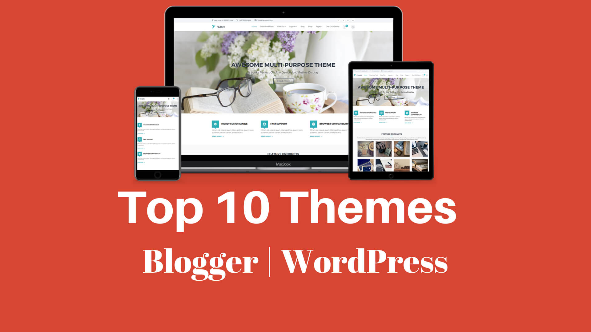 Top 10 Sabse Best Blogger & WordPress Theme 2018