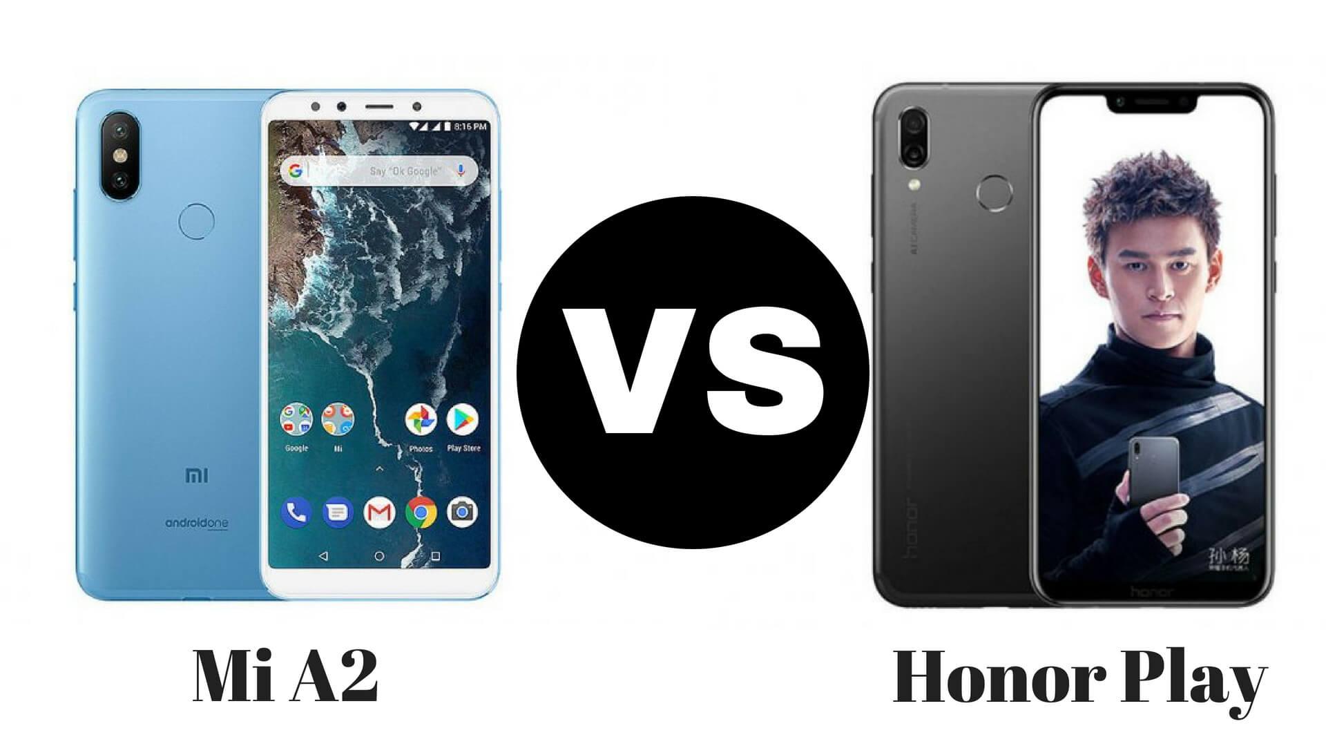 MI A2 vs Honor Play