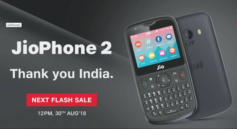 jiophone 2 flash sale