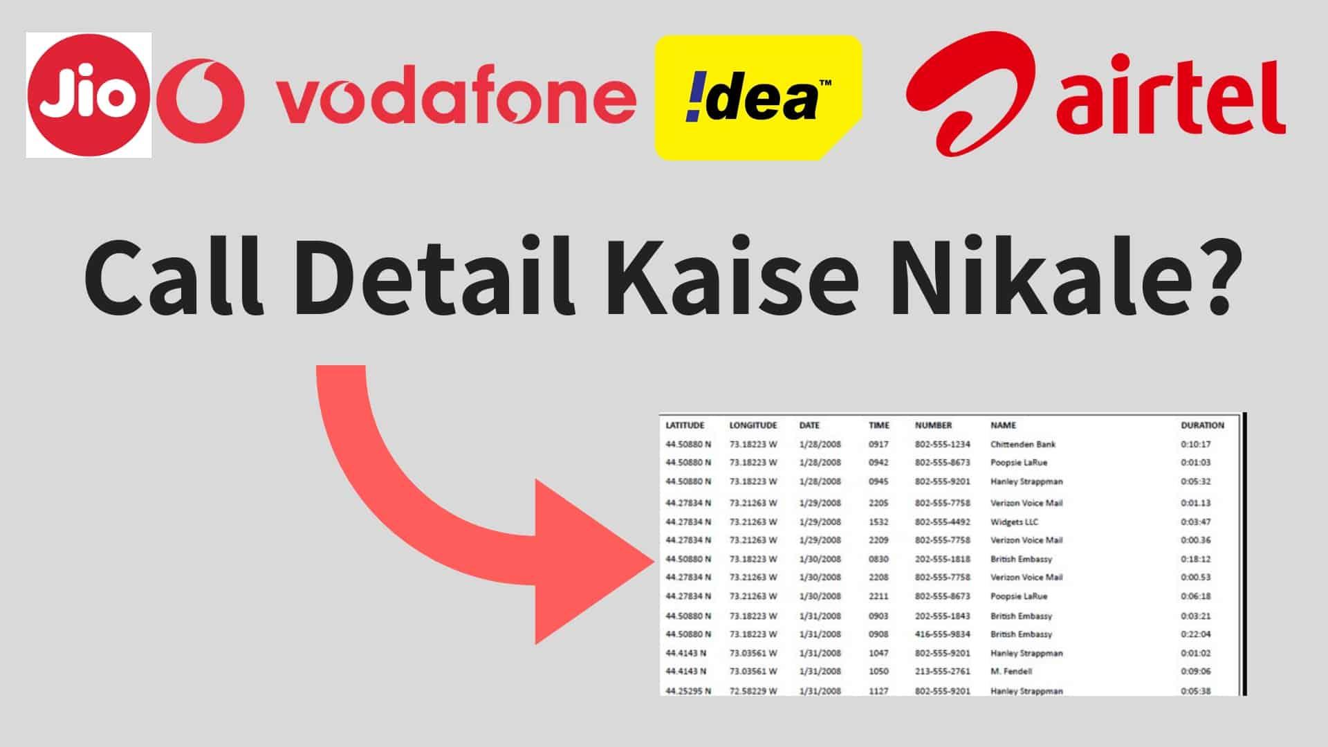 Phone Number Call Detail Pta Kaise Kare?  | लीगल तरीके से