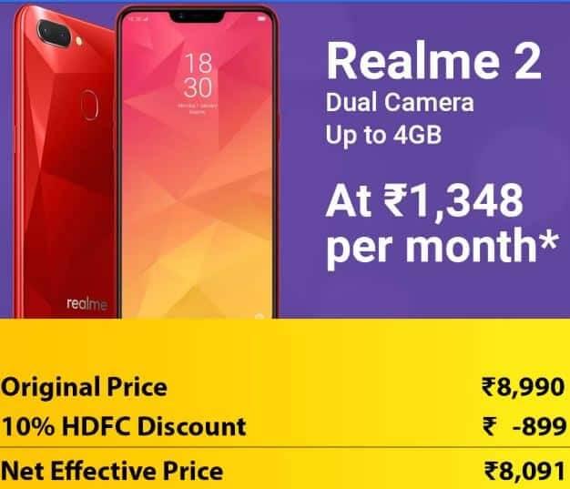 realme 2 discount